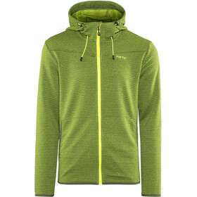 Meru Serres Fleece Hoodie Herren green striped